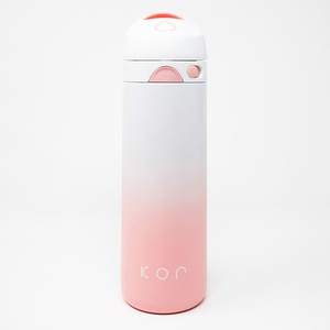 KOR Devi Double Wall Insulated, Stainless Steel Water Bottle, 600mL (Pearl Pink)