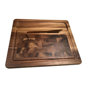 End grain Cheeseboard with Knife