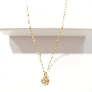 PAVE CIRCLE NECKLACE - 14KT GOLD FILLED