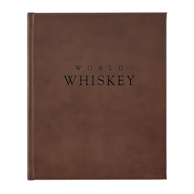 World Whiskey Book | Brown Genuine Leather Bound
