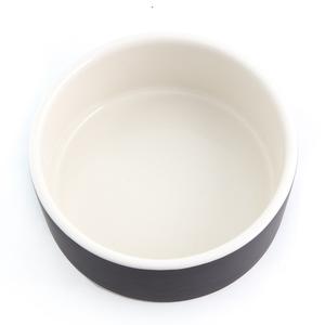 Large Naturally Cooling Ceramic Pet Water Bowl | Black