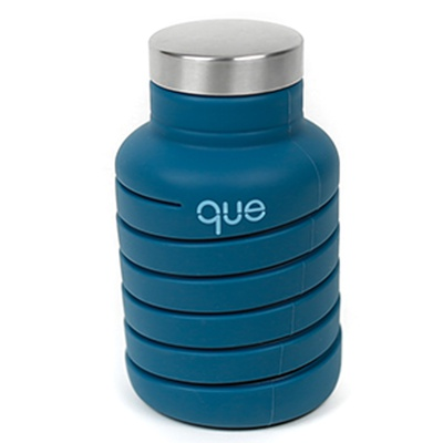 Steel Blue que Bottle