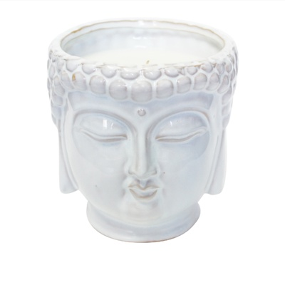 White Buddha 3-Wick Scented Candle $80.00 USD