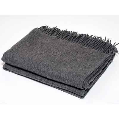 Cashmere Collection Throw in Charcoal