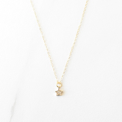 MINI SHINING STAR NECKLACE - 14KT GOLD FILLED