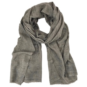 Taupe Gauze Cashmere Scarf