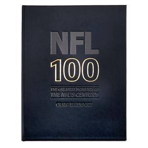 NFL 100: The Greatest Moments of the NFL's Century | Genuine Leather Bound Book