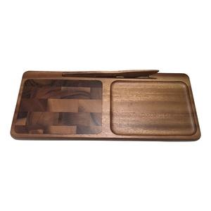 Acacia wood End grain Cheeseboard with Knife