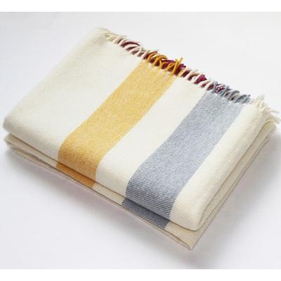 Cream Stripe Alpaca Throw