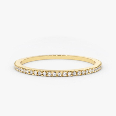 PAVE ETERNITY RING - 14KT GOLD FILLED