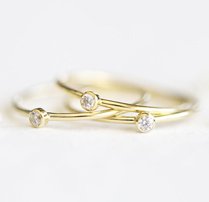 MARRY ME SOLITAIRE RING - 14KT GOLD FILLED