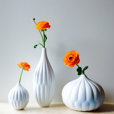 Textured vase collection - set of 3