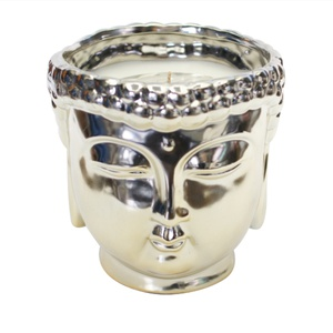 Metallic Gold Buddha 3-Wick Scented Candle $80.00 USD