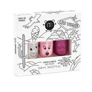Las Vegas - Set of 3 Water-Based Nail Polishes