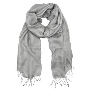 Silver Khmer Silk Scarf
