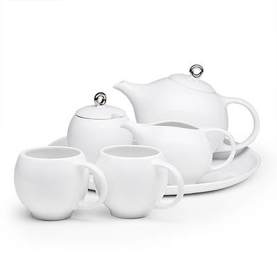 Full Eva teaset - 6 pieces in white porcelain