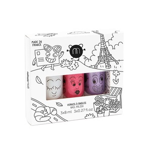 City - Set of 3 Water-Based Nail Polishes