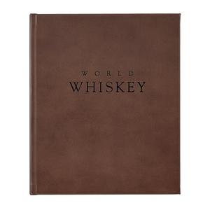 World Whiskey Book | Brown Genuine Leather Bound