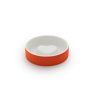 Slow feeder small pet bowl | Tangerine Orange