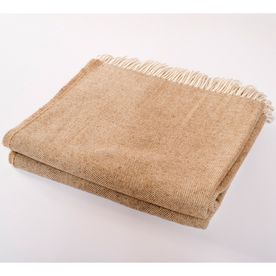Merino Wool Collection Throw Sepia