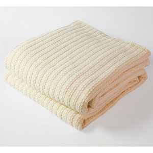 Cable Knit Blanket Natural