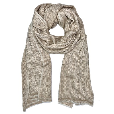 Champagne Tapestry Cashmere Scarf
