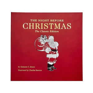 The Night Before Christmas | Genuine Leather Bound Book