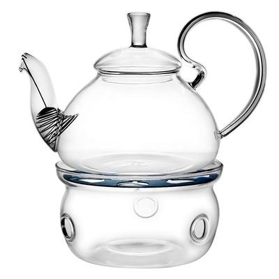 Elegant Glass Teapot + Warmer Combo